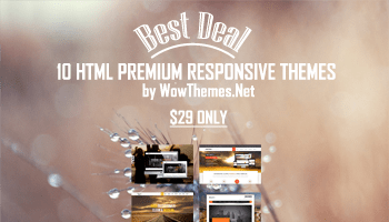 Download 10 Premium HTML Themes with Extended License