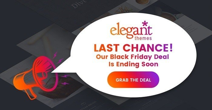 ElegantThemes' Craziest Black Friday Sale Ever! Huge Discounts, Free Prizes & An Exclusive Layout Pack