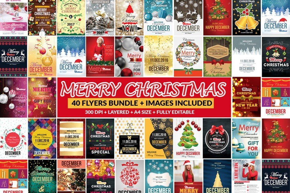 Festive Bundle of 66 Christmas Templates – All You Need For Holidays!